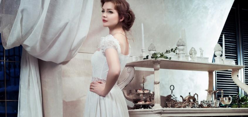 Оформление «зимнего» свадебного стола.